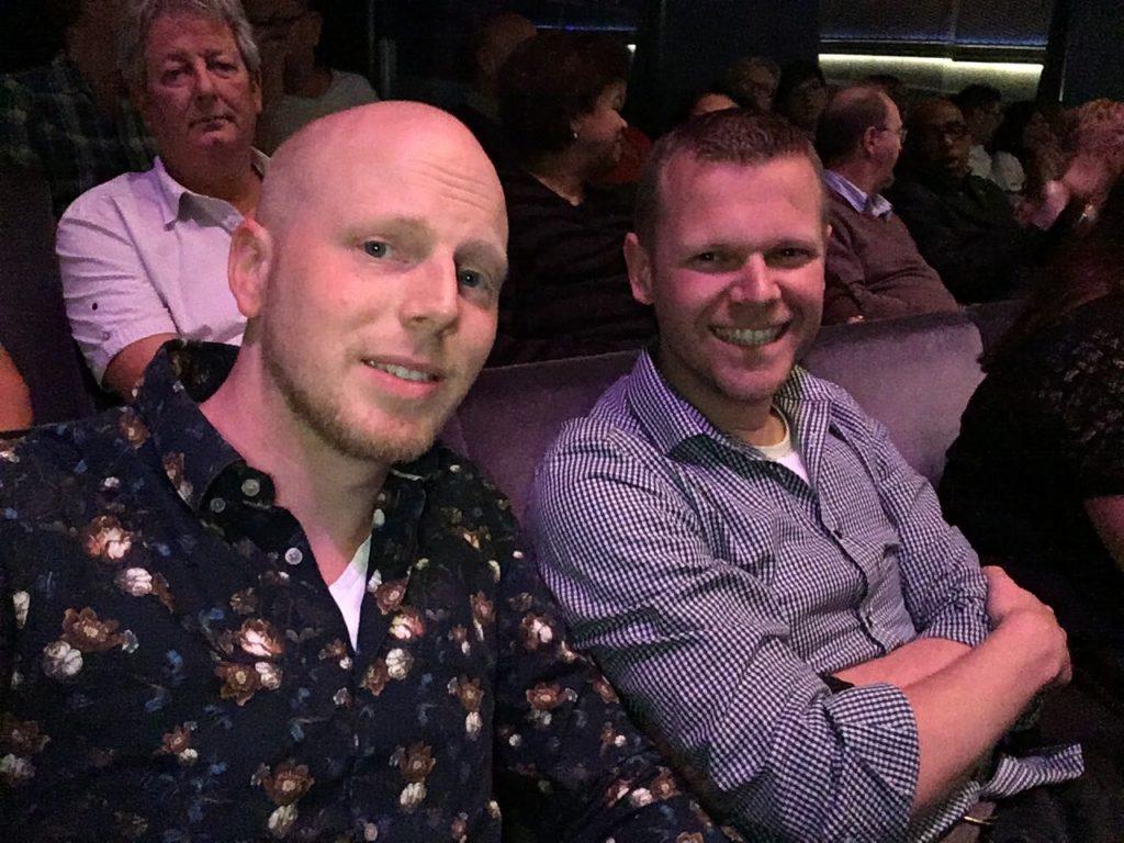 Daniel Roos en mijzelf in het KAF theater in Almere