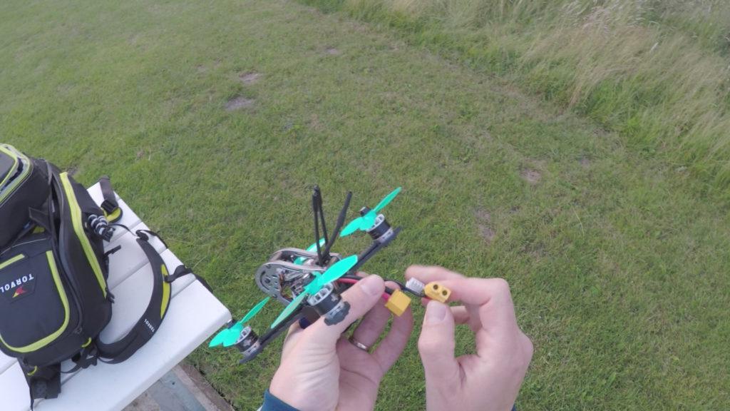 """Klaar voor de """"eerste"""" LOS testvlucht. Bij de echte eerste vlucht was mijn GoPro camera leeg."""
