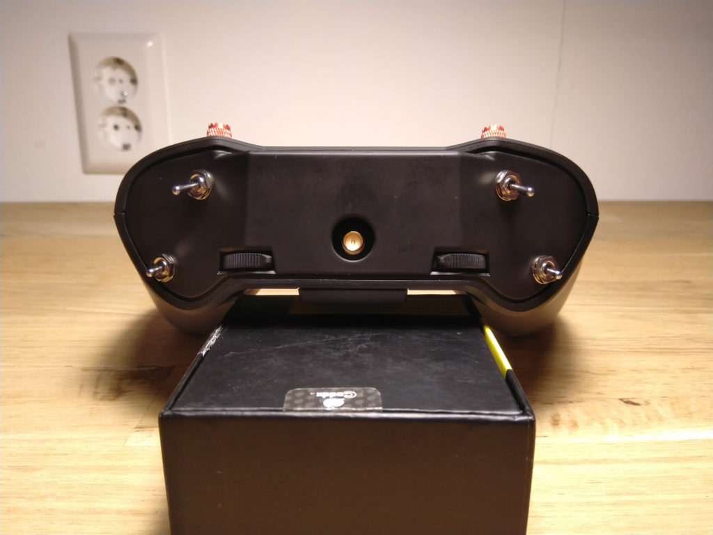 De SMA connector van de X-lite die optioneel te gebruiken is.