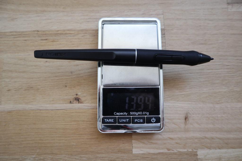 Gewicht PW500 pen.