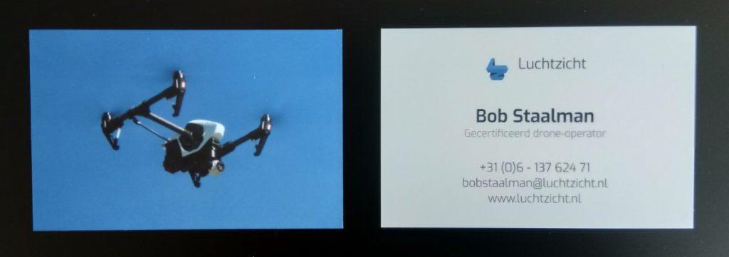Visitekaartje van Bob Staalman van Luchtzicht.